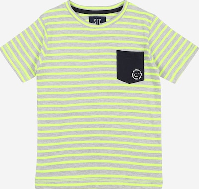 STACCATO T-Shirt in neongelb / graumeliert / schwarz / weiß, Produktansicht