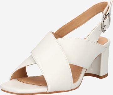 Steven New York Sandały z rzemykami 'Nancy' w kolorze biały