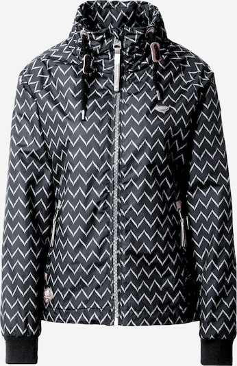 Ragwear Prechodná bunda 'Apoli Zig Zag' - čierna / biela, Produkt