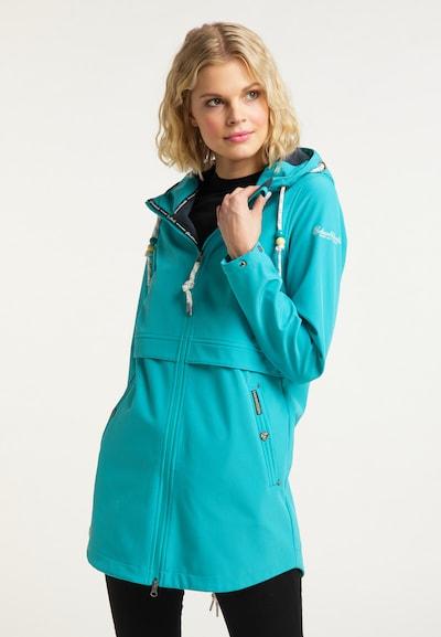 Schmuddelwedda Functionele mantel in de kleur Turquoise: Vooraanzicht