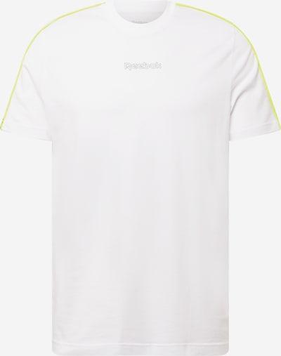 Reebok Sport Функционална тениска в жълто / бяло, Преглед на продукта