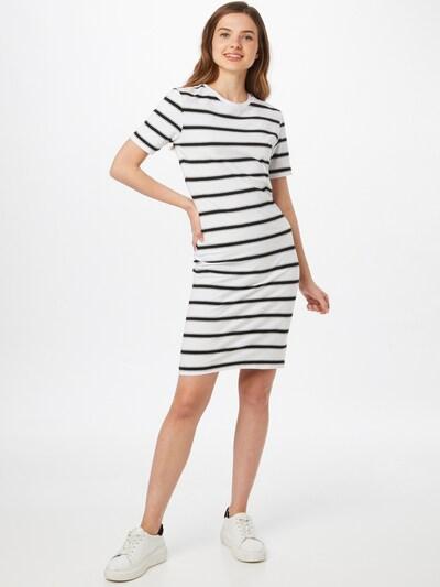 Urban Classics Kleid in navy / grau / weiß, Modelansicht
