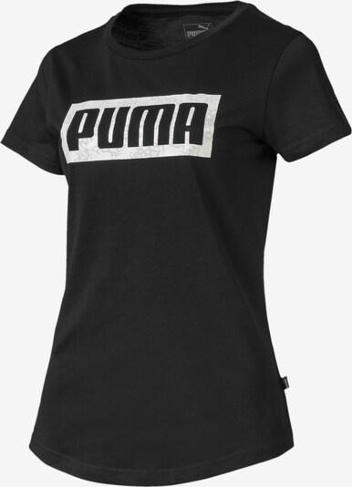 PUMA Graphic Logo Damen T-Shirt in schwarz, Produktansicht