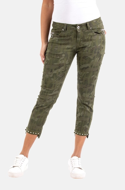 Blue Monkey Jeans in Olive, View model