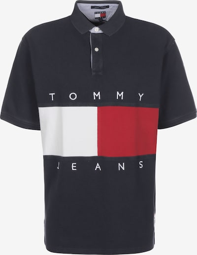 Tommy Jeans Poloshirt in dunkelblau / rot / weiß, Produktansicht