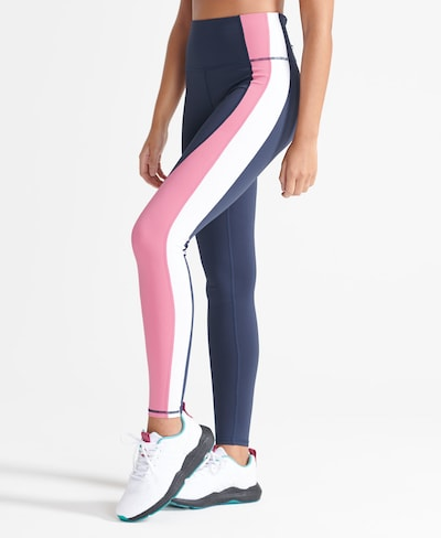Superdry Leggings en marine / pitaya / blanc, Vue avec modèle