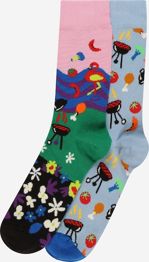 Happy Socks Socks in Blue / Grass green / Light pink / Black, Item view