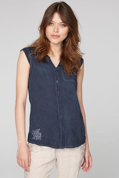 Soccx Bluse in blau, Modelansicht