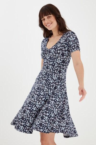 Fransa Kurzes Kleid mit Allover Print in blau, Modelansicht
