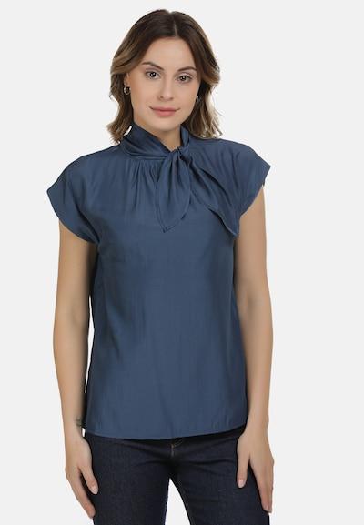DreiMaster Maritim Bluse in blau, Modelansicht