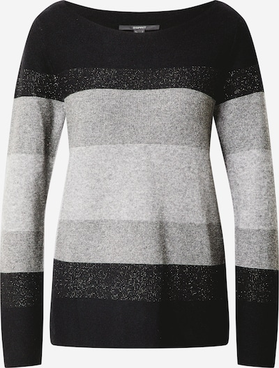 Esprit Collection Sweater in grau / hellgrau / schwarz, Produktansicht