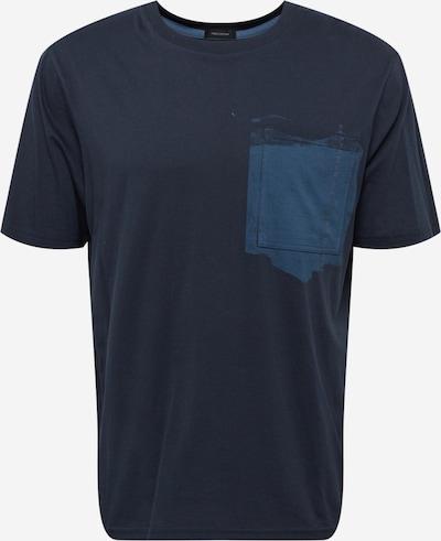 BOSS Casual Majica u sivkasto plava / tamno plava, Pregled proizvoda