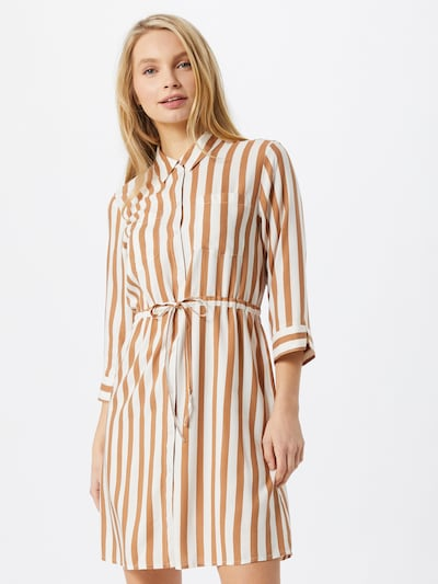 ONLY Shirt dress in Beige / Brown, View model