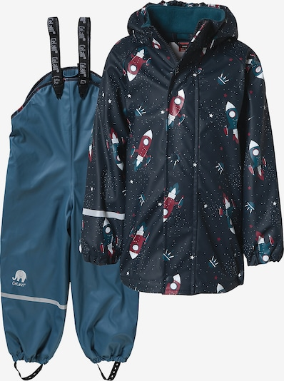 CELAVI Regenanzug in marine / pastellblau / karminrot / weiß, Produktansicht