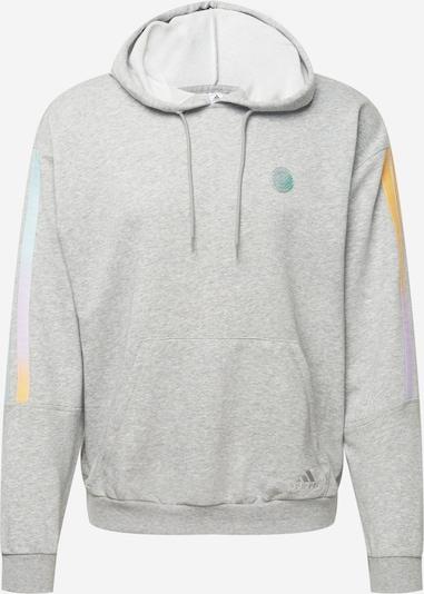 ADIDAS PERFORMANCE Спортен блузон с качулка в сив меланж / мента / лилав / оранжево: Изглед отпред