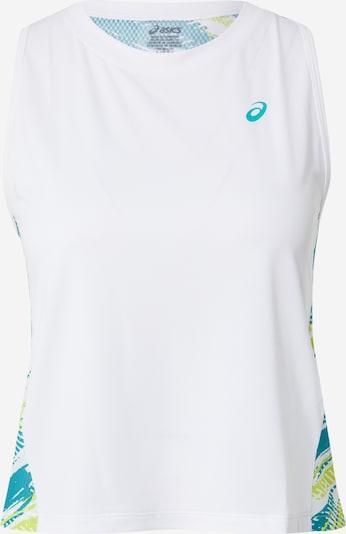ASICS Haut de sport en bleu / vert / blanc, Vue avec produit