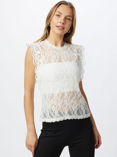 PIECES Blusa 'TALLIE' en blanco, Vista del modelo