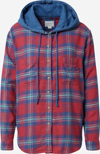American Eagle Bluse 'PERCY' in blau / türkis / rot, Produktansicht