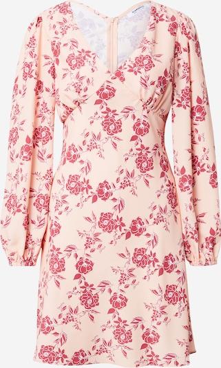 GLAMOROUS Kleid in pfirsich / pink / dunkelrot / weiß, Produktansicht