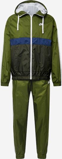 Tuta da jogging Nike Sportswear di colore blu / oliva / verde scuro, Visualizzazione prodotti