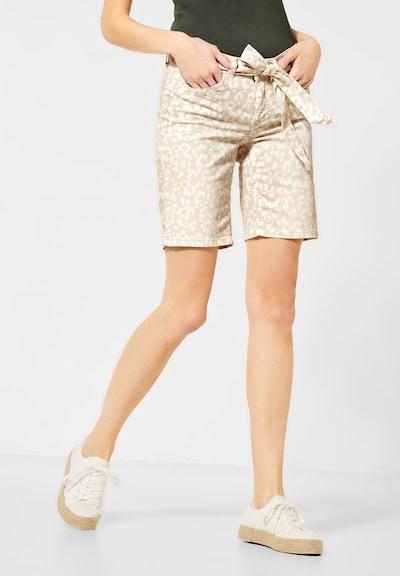 STREET ONE Jeans in de kleur Beige / Wit, Modelweergave