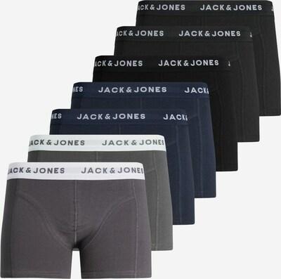 JACK & JONES Boxers 'JACKRIS TRUNKS 7 PACK' en bleu / gris / noir, Vue avec produit