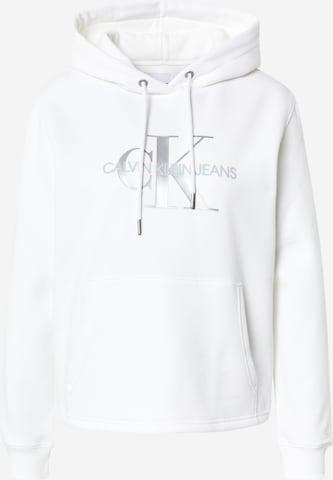 Calvin Klein Jeans Sweatshirt in Weiß