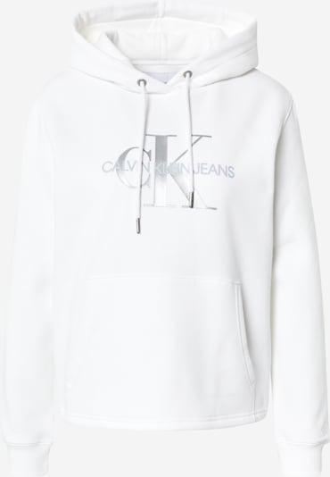 Calvin Klein Jeans Sweatshirt in Silver / White, Item view