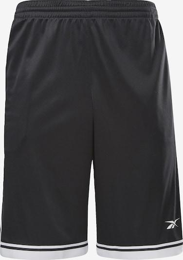 REEBOK Shorts in schwarz / weiß, Produktansicht