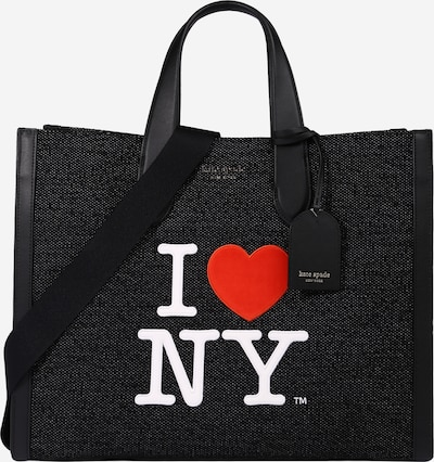 Plase de cumpărături 'MANHATTAN' Kate Spade pe roșu / negru / alb, Vizualizare produs