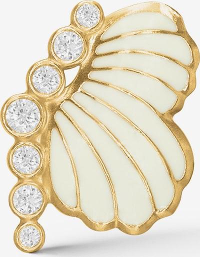 Polar Jewelry Oorbellen 'Thumbelina Earring - LEFT' in de kleur Goud / Wit / Wolwit, Productweergave