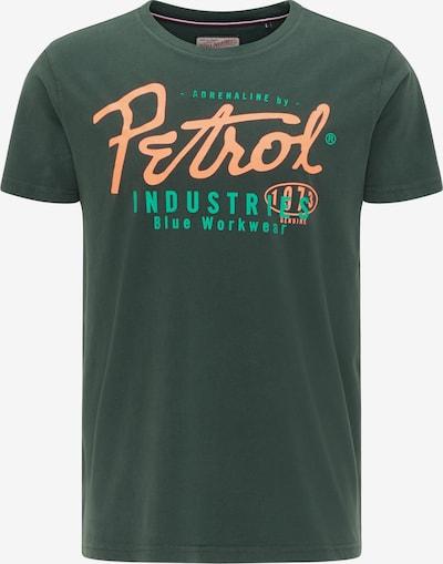 Petrol Industries T-Shirt en vert / vert clair / corail: Vue de face