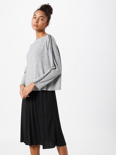Cartoon Kleid in graumeliert / schwarz / weiß, Modelansicht