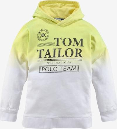 Tom Tailor Polo Team Sweatshirt in Yellow / Black / White, Item view