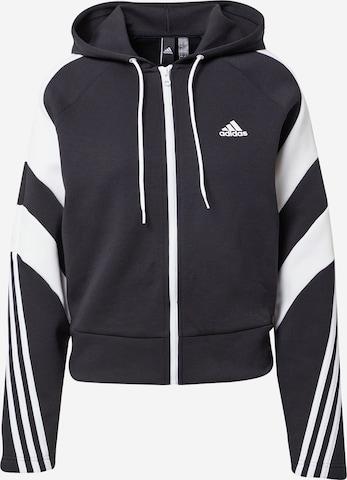 ADIDAS PERFORMANCE Sports sweat jacket in Black