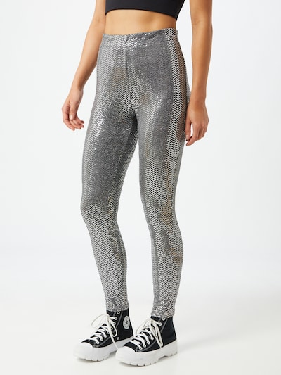 ONLY Leggings 'Moon Glitter' in de kleur Zilver, Modelweergave