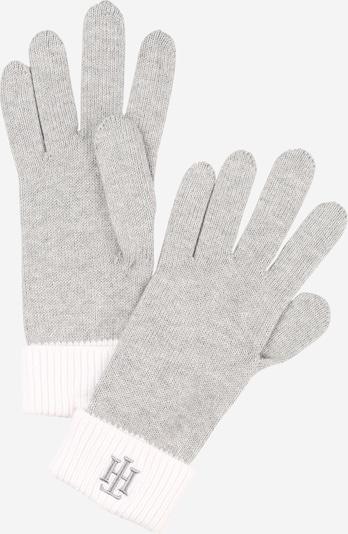 TOMMY HILFIGER Handschuh in grau / weiß, Produktansicht