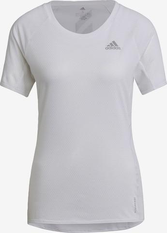 ADIDAS PERFORMANCE Funktsionaalne särk 'Runner', värv valge