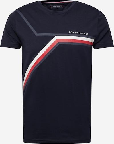 TOMMY HILFIGER Shirt in marine / nachtblau / rot / weiß, Produktansicht