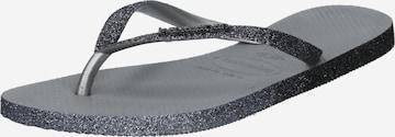 HAVAIANAS T-Bar Sandals in Grey