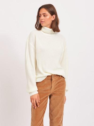 VILA Pulover 'Lou' | kremna barva, Prikaz modela