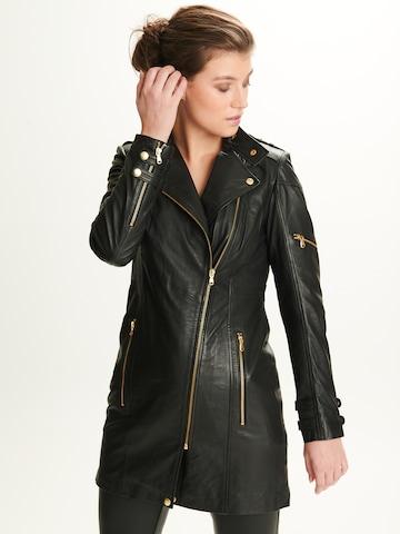 Notyz Between-Seasons Coat 'Sylvia' in Black