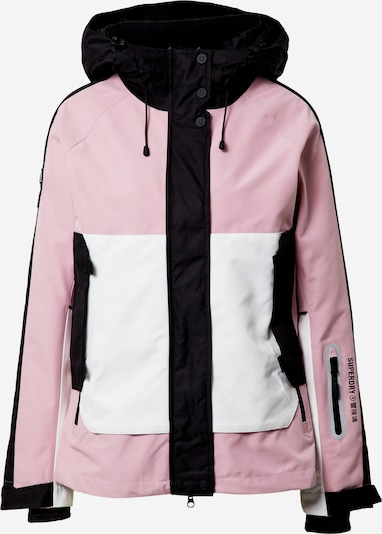 Superdry Snow Sportjas 'Freestyle Attack' in de kleur Rosa / Zwart / Wit, Productweergave