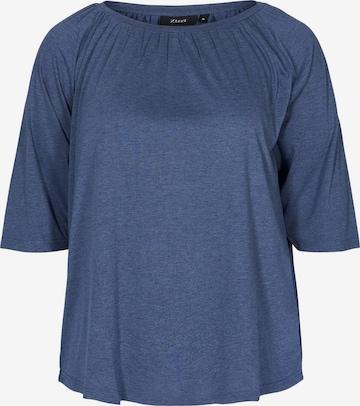 Zizzi Bluse 'Vlone' in Blau