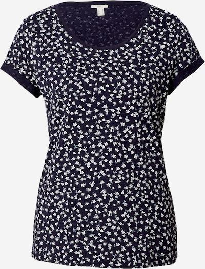 EDC BY ESPRIT Тениска в нейви синьо / бяло, Преглед на продукта
