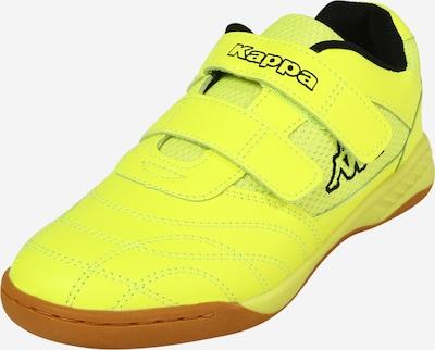 KAPPA Baskets 'KICKOFF' en jaune fluo, Vue avec produit