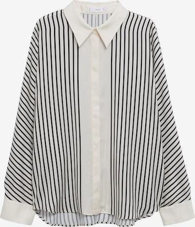 MANGO Bluse 'LINEAS' in schwarz / offwhite, Produktansicht