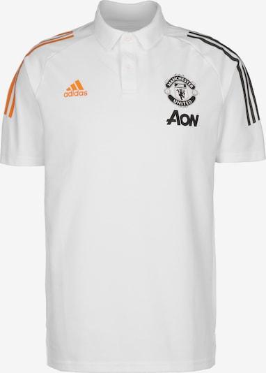 ADIDAS PERFORMANCE Poloshirt 'Manchester United' in orange / schwarz / weiß, Produktansicht