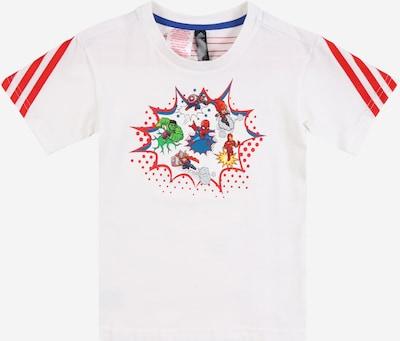ADIDAS PERFORMANCE Sportshirt in royalblau / gelb / limette / hellrot / weiß, Produktansicht