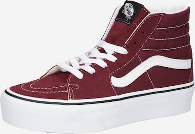 Sneaker înalt VANS pe roșu vin / alb, Vizualizare produs